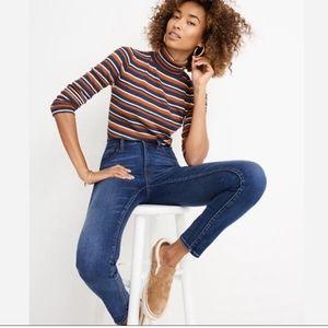 "Madewell 10"" High-Rise Skinny Jeans Medium Wash 29"